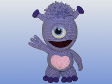 Crochet Pattern, Simo the cute Alien