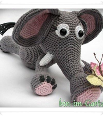 Elefant Häkeln Schmetterling Als Begleiter