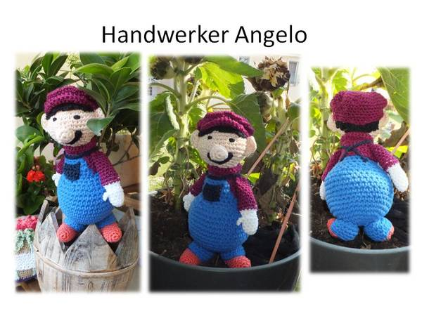 handwerker angelo amigurumi puppe zum h keln. Black Bedroom Furniture Sets. Home Design Ideas