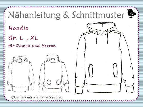 Nähanleitung und Schnittmuster Sweatshirt / Hoodie für Damen und ...