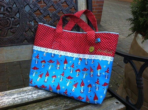 Nähanleitung und Schnittmuster: Tasche mit Henkel, Shopper