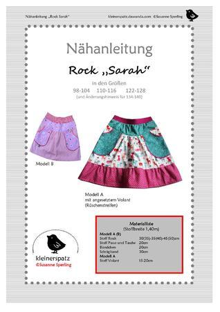 Schnittmuster und Nähanleitung: Rock für Mädchen (Gr. 98/104 - 122/128)