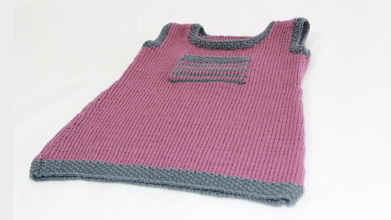 Strickanleitung Babykleidkinderkleid Abbey Für 1 Monat1357