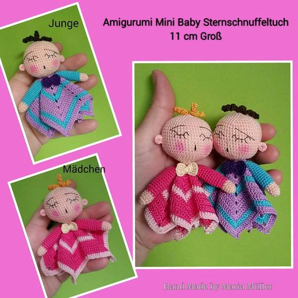 Amigurumi Anleitung Baby : Puppen hakeln - Mini-Puppen hakeln--Amigurumi