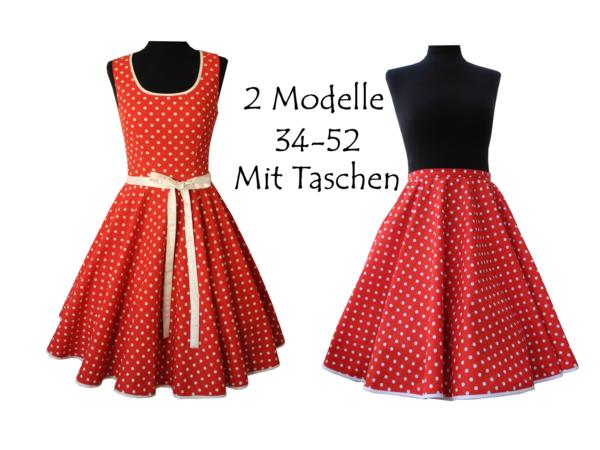 Schnittmuster +Bild Nähanleitung Petticoatkleid und Tellerrock =2 ...