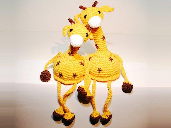 Giraffe - Kantenhocker - Häkelanleitung