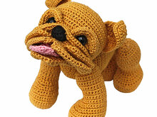 Baby Bulldog puppy pdf pattern crochet tutorial amigurumi dog english bulldog bully pet