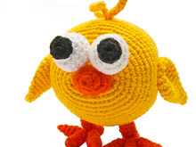 amigurumi animal glotzis PDF crochet pattern tutorial by Katja Heinlein chick chicken bird stuff toy kid ebook digital file biddy fledgling