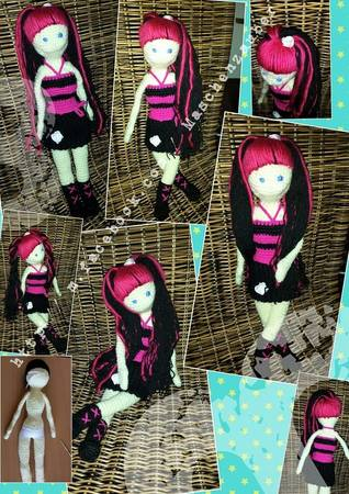 Anziehpuppe Ankleidepuppe Barbie Monsterhigh Puppe Lange Haare