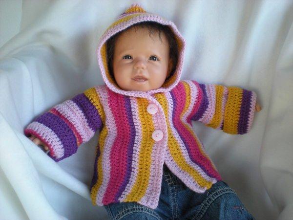 Süße Babyjacke Häkeln Anleitung Turinu
