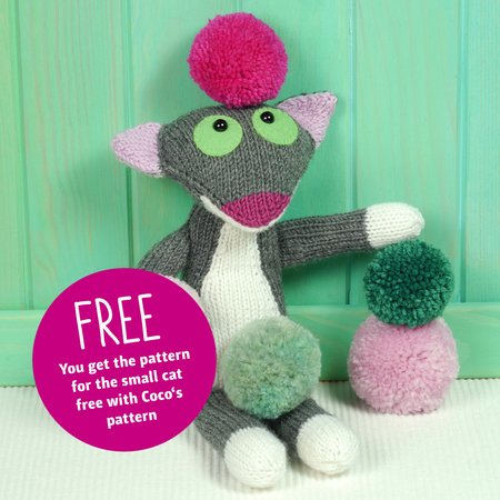Knitting Pattern Coco The French Cat