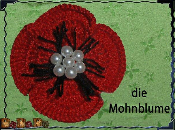gratis Blume häkeln-Mohnblume häkeln-DIY-Deko