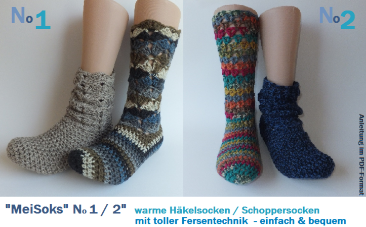 Schopper Socken Winter Socken Häkeln
