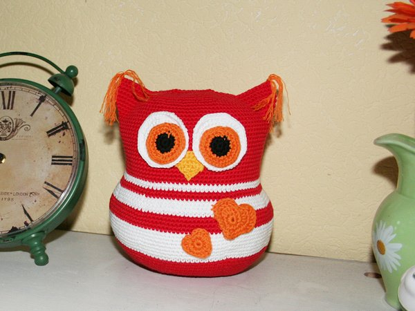 Owl - Doorstop, Stuffed Toy - Crochet Pattern