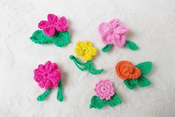 Blumen häkeln -- Blüten häkeln -- DIY-PDF