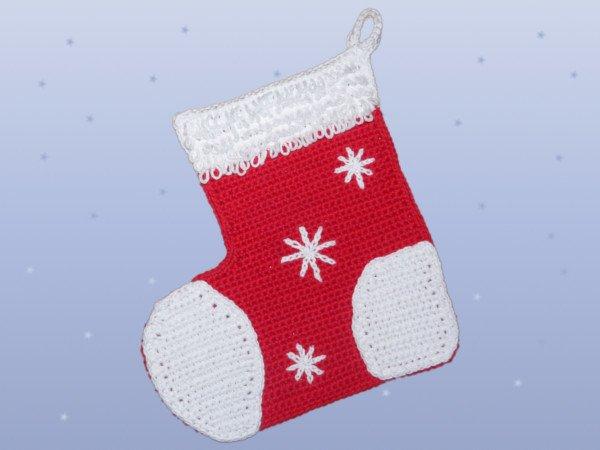 Gratis Topflappen Häkeln Weihnachtsstiefel