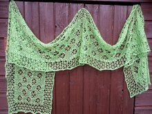 Crochet pattern: Flying Wheels Scarf or stole