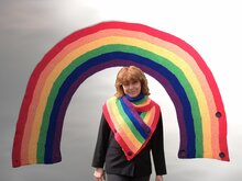 Knitting pattern: Rainbow Shawl, Loop, Cowl