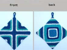 "Crochet pattern: ""Unikata"" potholders, oven cloth"