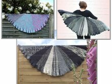 "Knitting pattern: ""Luneta"", half circle shawl"