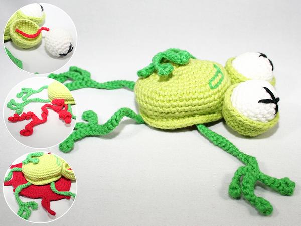 Fritz the Frog amigurumi pattern - Amigurumipatterns.net | 450x600