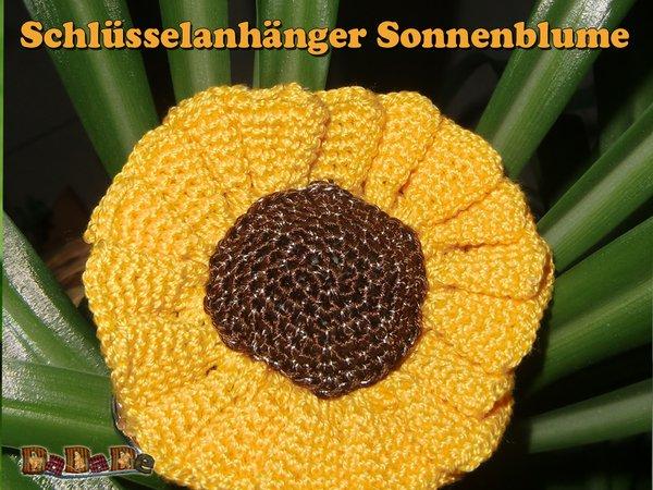 Sonnenblume häkeln, Schlüsselanhänger, Taschenbaumler für Ranzen und ...