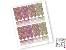 Glitter Printable Planner Stickers Pdf Perfect for Erin Condren Life Planners, SKU-140