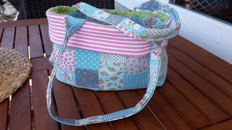 DIY Nähanleitung Tasche mit 6 Innenfächern inkl. Schnittmuster