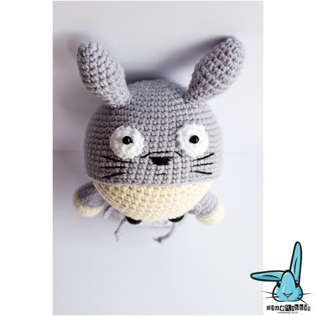 Free Knitting Pattern Totoro Toy : Amigurumi doll in Totoro costume without tail .PDF crochet pattern. Neighbor ...