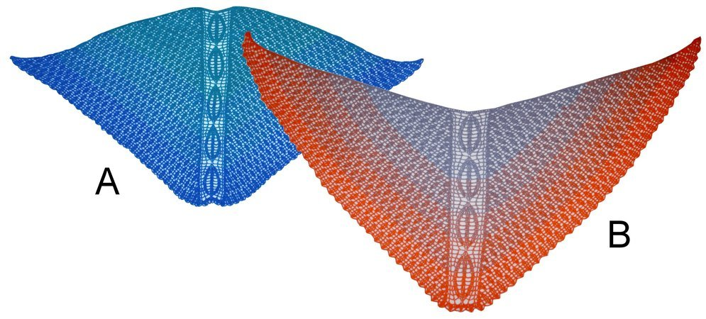 "Crochet pattern ""Zauberland"" Magic Land, Faroese shaped triangle shawl"