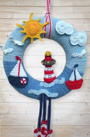Maritime door wreath