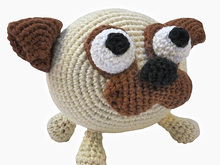 amigurumi animal glotzi PDF crochet pattern tutorial by Katja Heinlein stuff toy kids plaything dog doggy pug ebook file