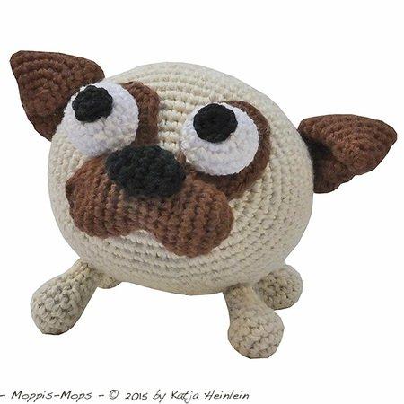 amigurumi h kelanleitung glotzi mops pug dog. Black Bedroom Furniture Sets. Home Design Ideas