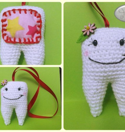 Häkelanleitung Zahn Amigurumi
