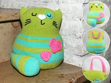 Cat - Doorstop - Stuffed Toy - Crochet Pattern