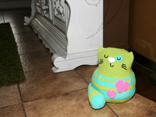 Cat - Doorstop, Stuffed Toy - Crochet Pattern