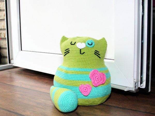 Free Crochet Cat Doorstop Patterns : Cat - Doorstop - Stuffed Toy - Crochet Pattern