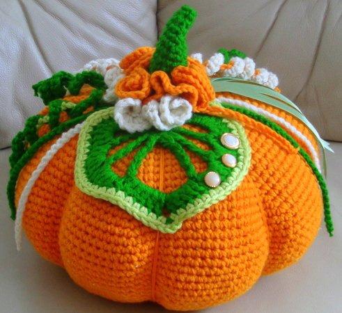 Kissen häkeln--Herbstdeko//Halloween-Deko