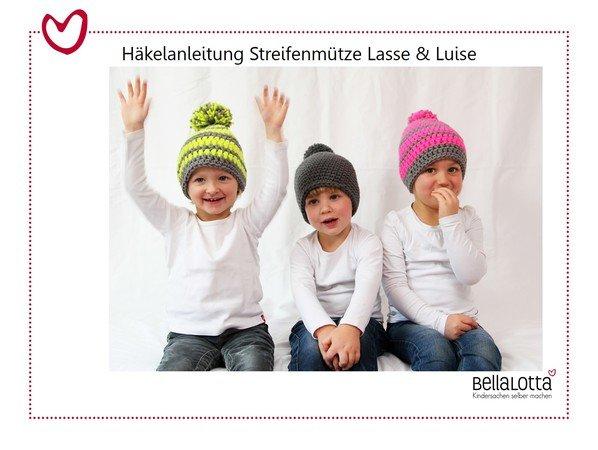 Anleitung Streifenmütze Lasseluise Kleinkind Erwachsener Sehr Einfach