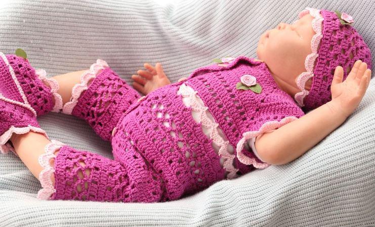 Häkelanleitung Für Babygarnitur Orchidee