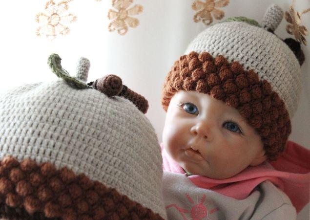 50ef35c91 Acorn Baby Hat Crochet Pattern