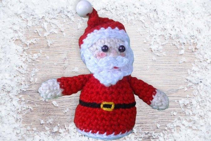 Weihnachts Deko Häkeln Weihnachtsmann Diy