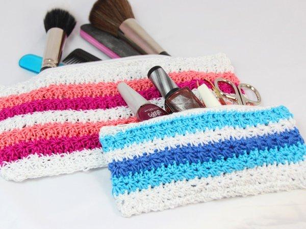 Beautytasche, Mäppchen mit Zipper - Häkelanleitung