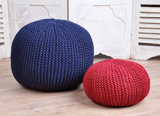 Pouf Selber Machen pdf strickanleitung für einem runden pouf aus textilgarn
