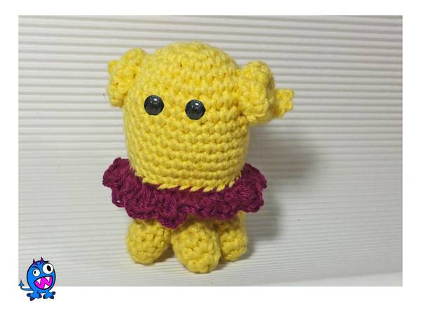 Squishy Monster - a free amigurumi pattern | Shiny Happy World | 450x600