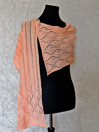 Knitting pattern scarf / shawl Meril