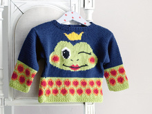 Willy Taddles - Babypullover mit Froschmotiv