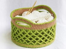 Crochet Pattern - Lattice Basket