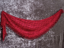 Knitting pattern shawl Belladonna