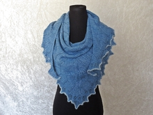 "Knitting pattern shawl ""Nenya"""